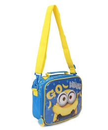Minions Lunch Case Bag Blue Yellow - Height 7.87 inches