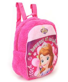 Disney Plush Bag Sofia the First Pink - Height 11.81 inches
