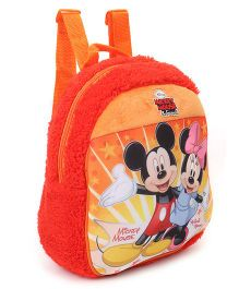 Disney Mickey And Minnie Plush Bag Red Orange - Height 11.81 inches