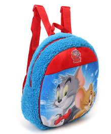 Tom & Jerry Plush Bag Blue Red - Height 11.81 inches