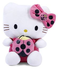Dimpy Stuff Kitty With Bee Stuff Toy White & Pink - 33 Cm