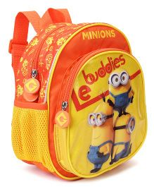 Minions Backpack Buddies Print Yellow - Height 10 Inches