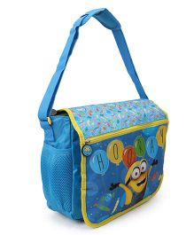Minions School Bag Blue - Height 11.81 inches