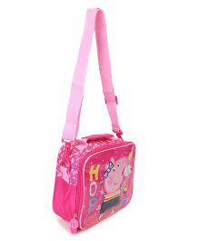 Peppa Pig Lunch Case Bag Pink - Height 9.8 inches