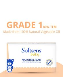 Softsens Baby Natural Soap Bar - 75 grams