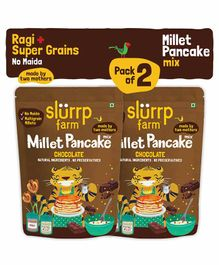 Slurrp Farm Pancake Mix Chocolate & Supergrains Set of 2 - 150 gms each