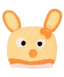 Miss Diva Super Cute Bunny Crochet Cap - Orange