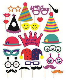 Syga Birthday Party Props Pack Of 24 - Multicolor