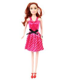 Smile Creations Polka Dots Dress Doll Pink - Height 28 cm