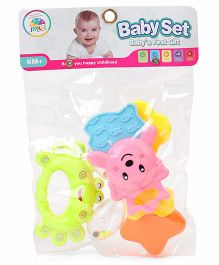 Smiles Creations Rattle Set Pack of 3 (Color May Vary)