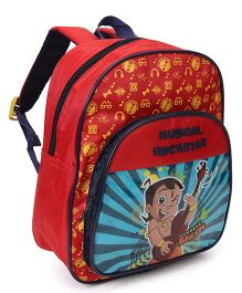 Chhota Bheem School Bag Red Blue - 4.5 inches