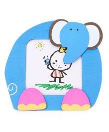 Photo Frame Elephant Motif - Blue