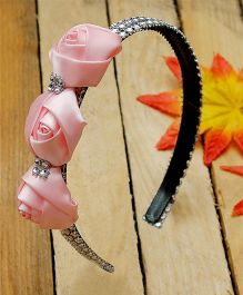 D'chica 3 Pretty Roses Hairband - Pink