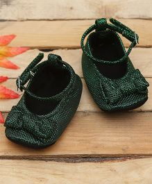 D'chica Stylishly Blingy Soft Soled Booties - Green