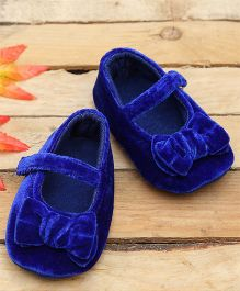 D'chica Lusciously Soft Crib Booties - Blue