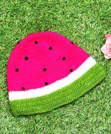 D'chica Pure Wool Watermelon Cap - Pink