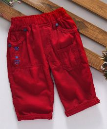 Olio Kids Full Length Corduroy Trouser - Red