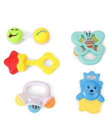 Smiles Creation Rattle Set  Pack of 5 - Multi Colour