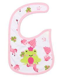 Little Hip Boutique Frog Applique Bib - Pink