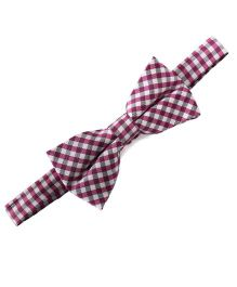 Little Hip Boutique Chequered Print Bowtie - Pink