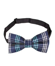Little Hip Boutique Checks Bow Tie - Blue