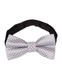 Little Hip Boutique Silver Grey Check Bowtie - Grey