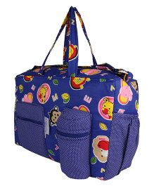 MomToBe Infant Diaper & Nappy Changing Bag Animal Print - Blue