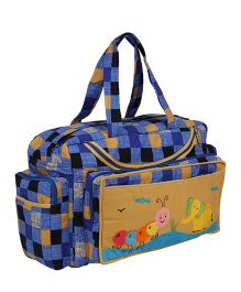 MomToBe Infant Diaper & Nappy Changing Bag Animal Patch - Blue