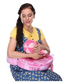 MomToBe Feeding Pillow Bear Print - Pink