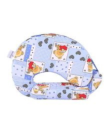 MomToBe Feeding Pillow With Pockets Bear Print - Pink