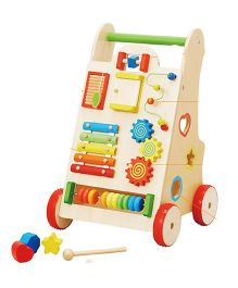 Emob Activity Walker With Learning Toys - Multi Color