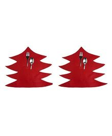 Li'll Pumpkins Tree Cutlery Mat - Red