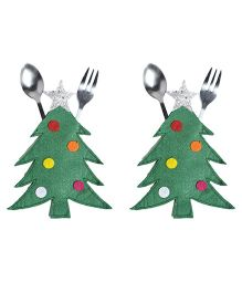Li'll Pumpkins Tree Cutlery Pocket - Green