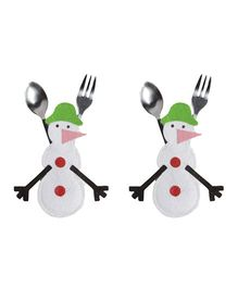 Li'll Pumpkins Snowman Cutlery Pocket - White
