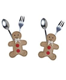 Li'll Pumpkins Gingerman Cutlery Pocket - Beige