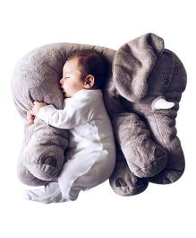 Skylofts Soft Stuffed Elephant Shaped Pillow Cover Toy Grey -  Height 20 cm