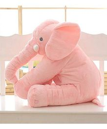 Skylofts Soft Stuffed Elephant Shaped Pillow Cover Toy Peach -  Height 20 cm