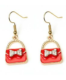 Asthetika Purse Earrings - Red