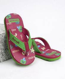 Cute Walk by Babyhug Flip Flops - Pink Green