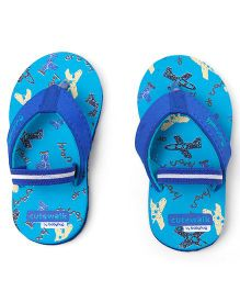 Cute Walk by Babyhug Flip Flops Airplane Print - Blue