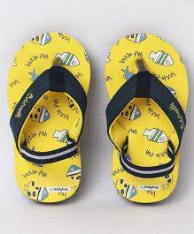Cute Walk by Babyhug Flip Flops With Back Strap - Yellow