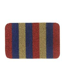 Athom Trendz Grandiose Premium Anti Slip Striped Door Mat - Multi Color