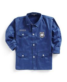 Kidsclan Full Sleeves Police Theme Party Shirt - Blue