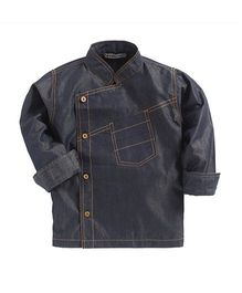 Kidsclan Full Sleeves Chef Shirt With Front Pocket - Denim