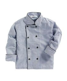 Kidsclan Full Sleeves Chef Jacket Stripes Print - Grey
