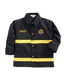 Kids Clan Fireman Theme Costume Shirt - Black