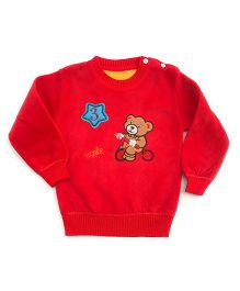 Tickles 4 U Teddy Sweater - Red