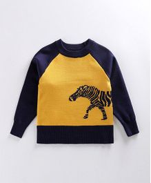Tickles 4 U Horse Print Sweater - Yellow