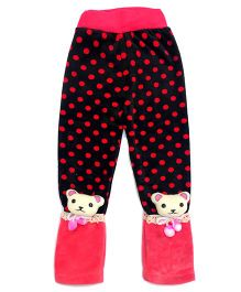 Tickles 4 U Warm Polka Pants - Red & Pink