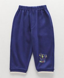 Ollypop Full Length Lounge Pant With Pocket Puppy Face - Royal Blue
